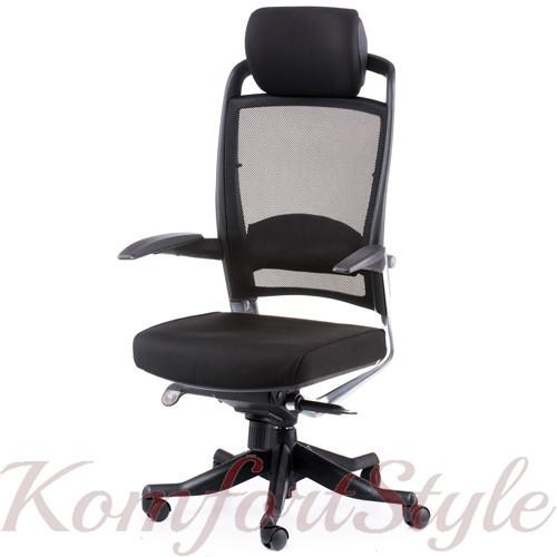 Кресло офисное Fulkrum black fabric, black mеsh