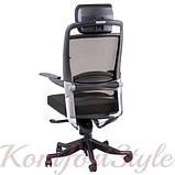 Кресло офисное Fulkrum black fabric, black mеsh, фото 4