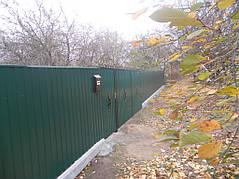 Ворота, калитки, заборы из профнастила. 35