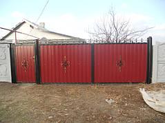 Ворота, калитки, заборы из профнастила. 36