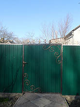 Ворота, калитки, заборы из профнастила. 39