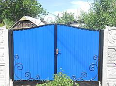 Ворота, калитки, заборы из профнастила. 42