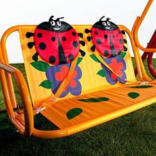 Детские садовые качели Божья коровка, двухместные для дачи , фото 2