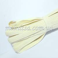 Резинка бельевая, плоская, 8 мм, белая, х/б