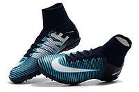Футбольные сороконожки Nike MercurialX Proximo TF Obsidian/White/Gamma Blue/Glacier Blue, фото 1