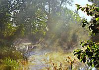 """Фотография на холсте """"Утро на Псле возле меловых гор в Могрице.-"""" 50х70см"""