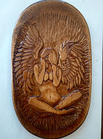 "Деревянное панно ""Ангел"". Ню. Різьба по дереву, фото 1"
