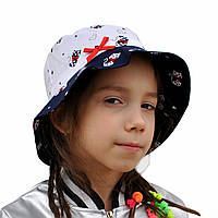Летняя шляпка панамка для девочки.Китти.