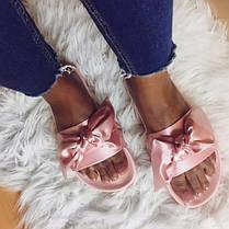 Женские тапочки Puma x Rihanna Womens Fenty Slides Bow Pink 365774-03, Пума Риана, фото 3