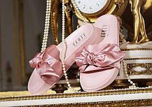 Женские тапочки Puma x Rihanna Womens Fenty Slides Bow Pink 365774-03, Пума Риана, фото 2