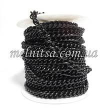 Ланцюжок сумочная, ланка 8 х 7 мм, колір чорний, 50 см