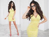 Платье летнее гипюровое, подклада трикотаж 42-46