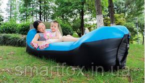 Ламзак надувной диван Lamzak двухцветный Black-color, фото 2