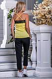 Стильные черные брюки с нашивными лампасами 42-50р, фото 4