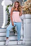 Стильные брюки с яркими нашивными лампасами  42-50р, фото 2