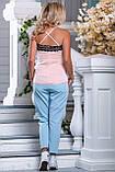 Стильные брюки с яркими нашивными лампасами  42-50р, фото 5