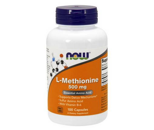L-Methionine 500 mg 100 caps, фото 2