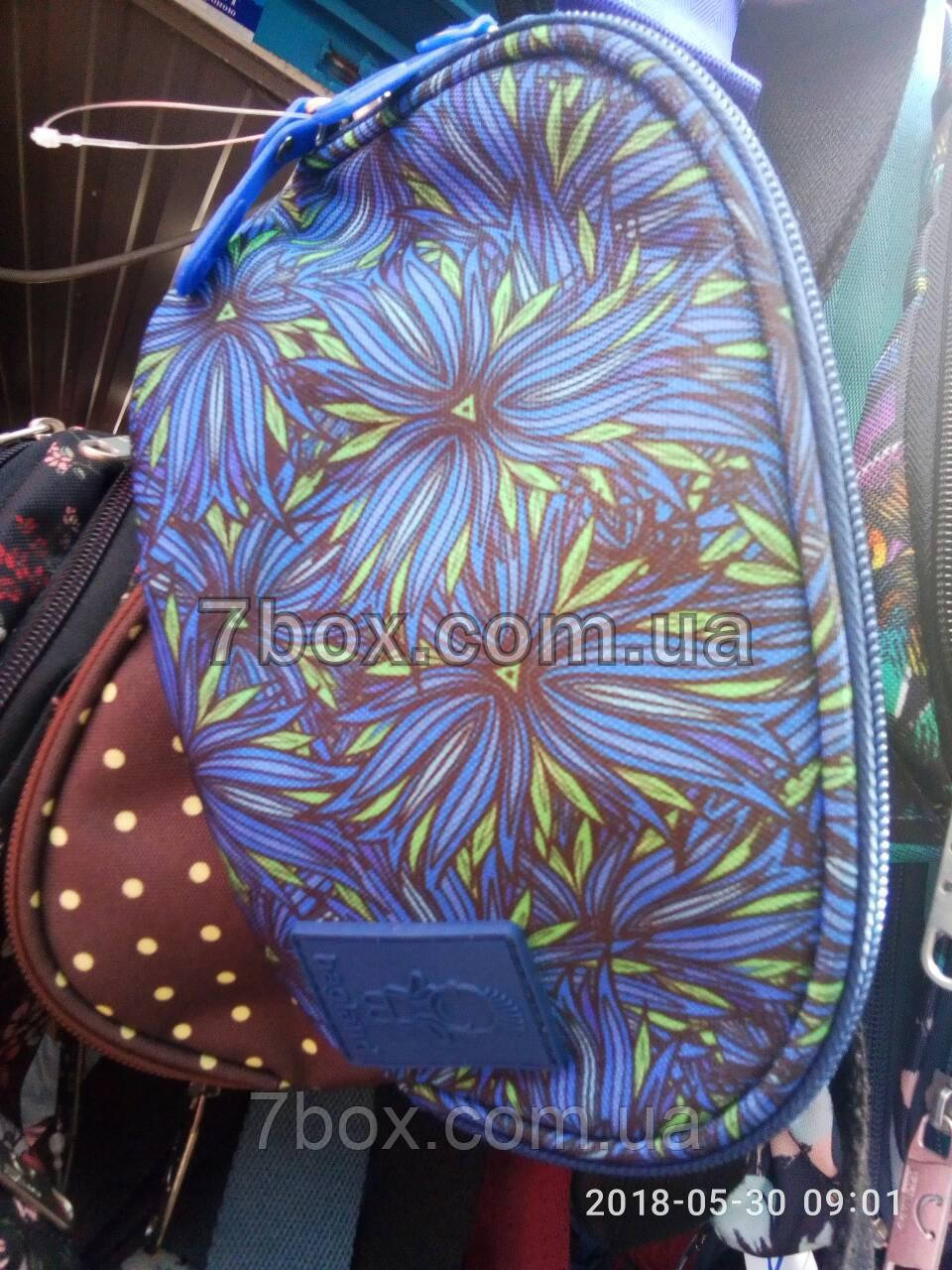 Поясная сумка Бананка тм Bagland. Синий цветок 2л