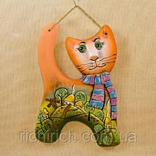 Панно настенное Кот в шарфе