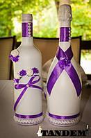 Декор бутылок - violet light