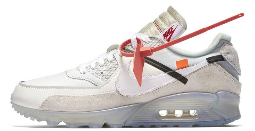 Мужские кроссовки Off-White x Nike Air Max 90, фото 2