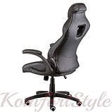 Кресло геймеровское Leader black, фото 4