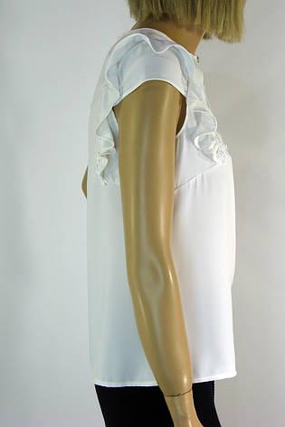 Нарядна блузка з рюшками на плечах Cupe, фото 2