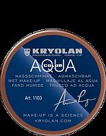 Коричневый  аквагрим AQUACOLOR 55мл(оттенок 7 w)