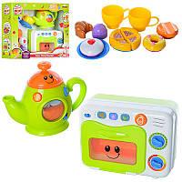 Набор игровой техники для малышей Микроволновка, Чайник, посуда, продукты, звук (англ), свет,  WinFun 3154-NL