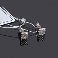 Серебряные серьги гвоздики Квадратики