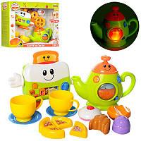 Набор игровой техники для малышей Тостер, Чайник, посуда, продукты, звук, свет,  WinFun 3155-NL