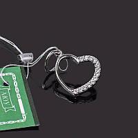 Серебряная подвеска Сердце с камнем