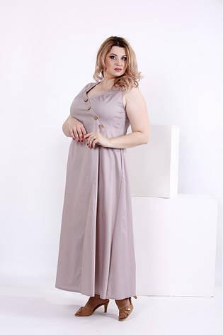 eee981979f9 Длинное бежевое платье больших размеров из коттона 0841  570 грн ...