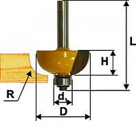 Фреза кромочная калевочная ф25.4х13, r6.35,хв.8мм ПРОФ (арт.46281)