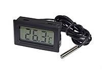 Термометр ТРМ-10, градусник цифровой с выносным датчиком -50....+110 (Черный), фото 1