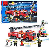 Конструктор Пожарная машина с лестницей и пожарная машина  908 BRICK