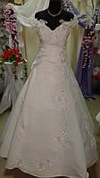 Платье свадебное лейс пудра