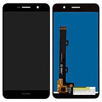 Стекло сенсорного экрана Huawei Y6 Pro/Enjoy 5/Honor Play 5X чёрный оригинал