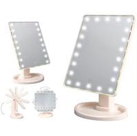 Зеркало косметическое  c подсветкой на 22 светодиода  питание от USB