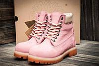 Ботинки женские Timberland 6 premium boot, розовые (3195-3),  [   40  ]