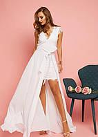 04f41618aa64064 Мини-платьице с глубоким декольте и романтичными короткими рукавчиками