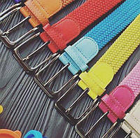 Ремінь жіночий плетений,різні кольори, фото 1