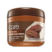 Крем для обличчя і тіла з маслом какао «Живлення», 400 мл