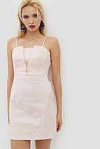 Женское короткое платье на тонких бретелях из коттон-стрейча (Ikel crd), фото 2