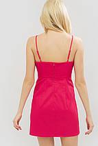 Женское короткое платье на тонких бретелях из коттон-стрейча (Ikel crd), фото 3