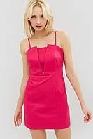 Женское короткое платье на тонких бретелях из коттон-стрейча (Ikel crd)