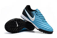 Футбольные сороконожки Nike Tiempo Ligera TF Gamma Blue/White/Obsidian/Glacier Blue, фото 1