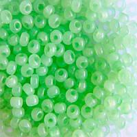 Чешский бисер для рукоделия Preciosa (Прециоза) оригинал 50г 33119-02261-10 Зеленый