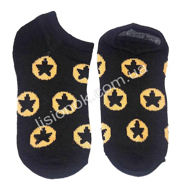Детские носки 27-30 черные со звездами