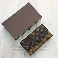 c41b141dc0c4 Кошелек Louis Vuitton Monogram большой на кнопке   lv монограм  Луи Витон  Красный